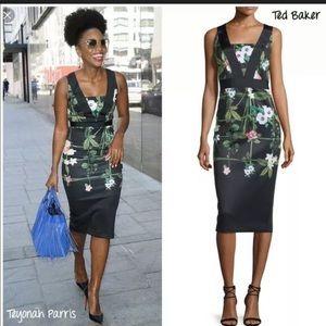 Ted Baker Kacied Secret Trellis Elastic Dress 0 2